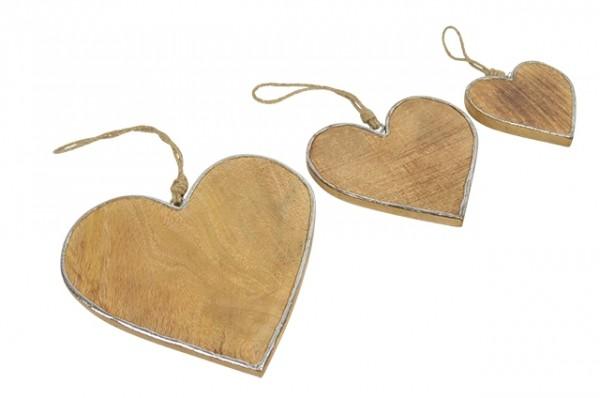 Herz Holz m. Umrandung - D10xT1cm
