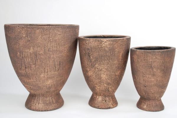 Vase David hoch auf Fuss 19x13,5x25,5cm