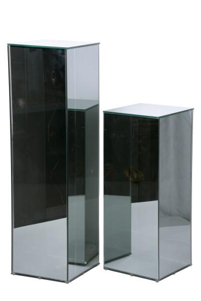 LED Glassäule eckig mit Lichterkette 20x20x70cm