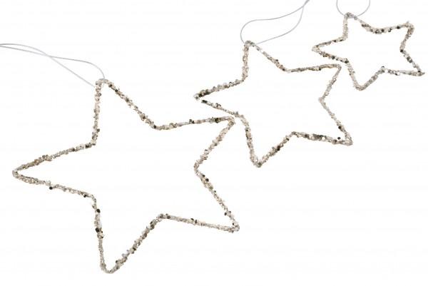 Stern Draht Glitter D15cm