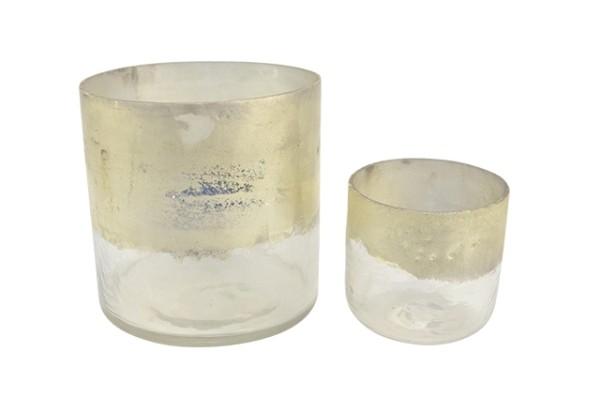 Windlicht Glas Soda - D15xH15cm