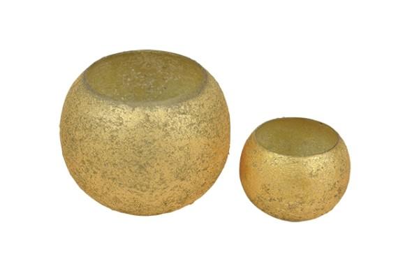 Teelichtglas rund frosted - D12cm