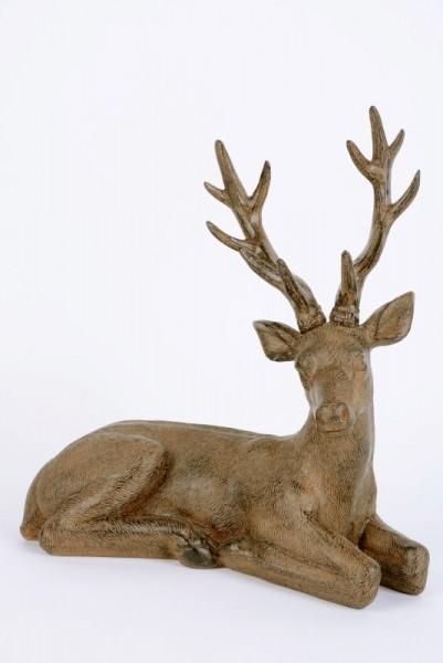 Hirsch liegend 32x14x34cm