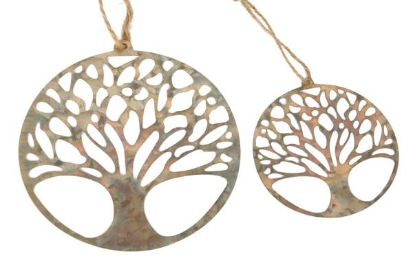 Ring Baum Metall z. Hängen D10cm