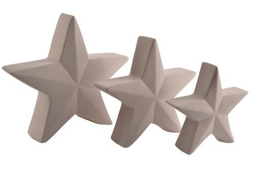 LED Stern Porzellan 24x5,5x22,5cm